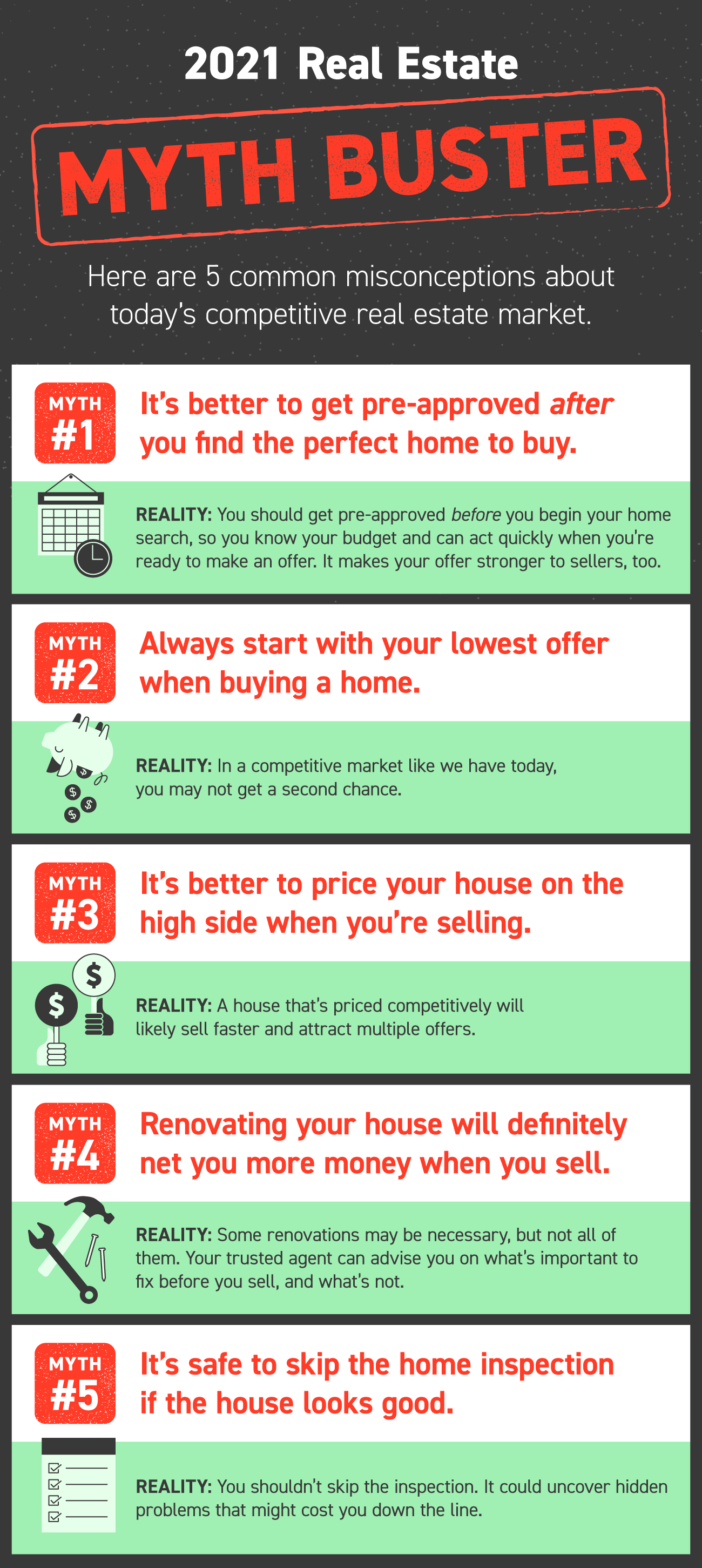 2021 Real Estate Myth Buster [INFOGRAPHIC]   Simplifying The Market